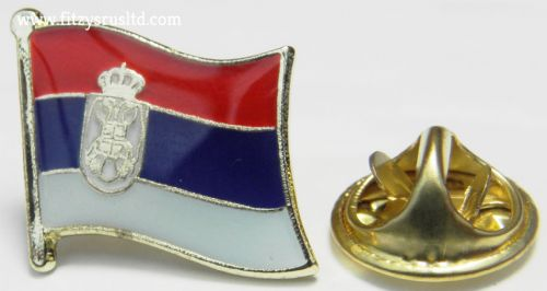 Serbia Country Flag Lapel Hat Cap Tie Pin Badge   Serbian New